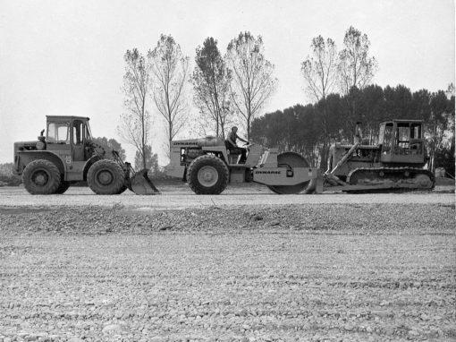 foto storica automezzi al lavoro